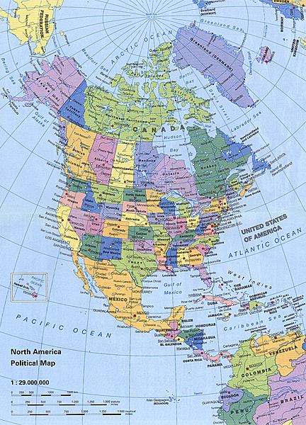Unit Mr Reid Geography For Life Detailed Clear Large Political - Us canada mexico map